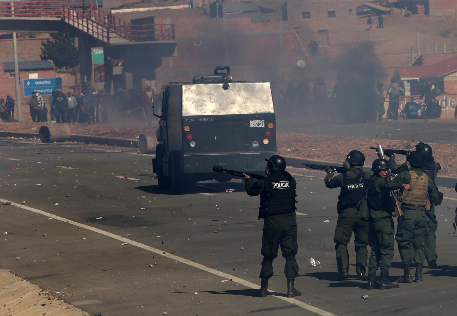 Spopadi med policijo in rudarji so trajali več dni