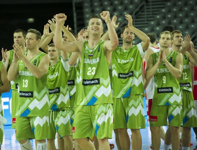 Slovenska košarkarska reprezentanca (foto: STA)