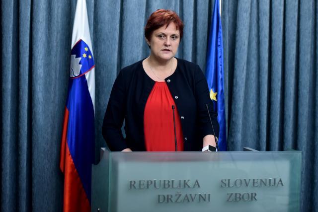 Predsednica preiskovalne komisije za preiskovanje zlorab v zdravstvenem sistemu Jelka Godec (foto: STA)
