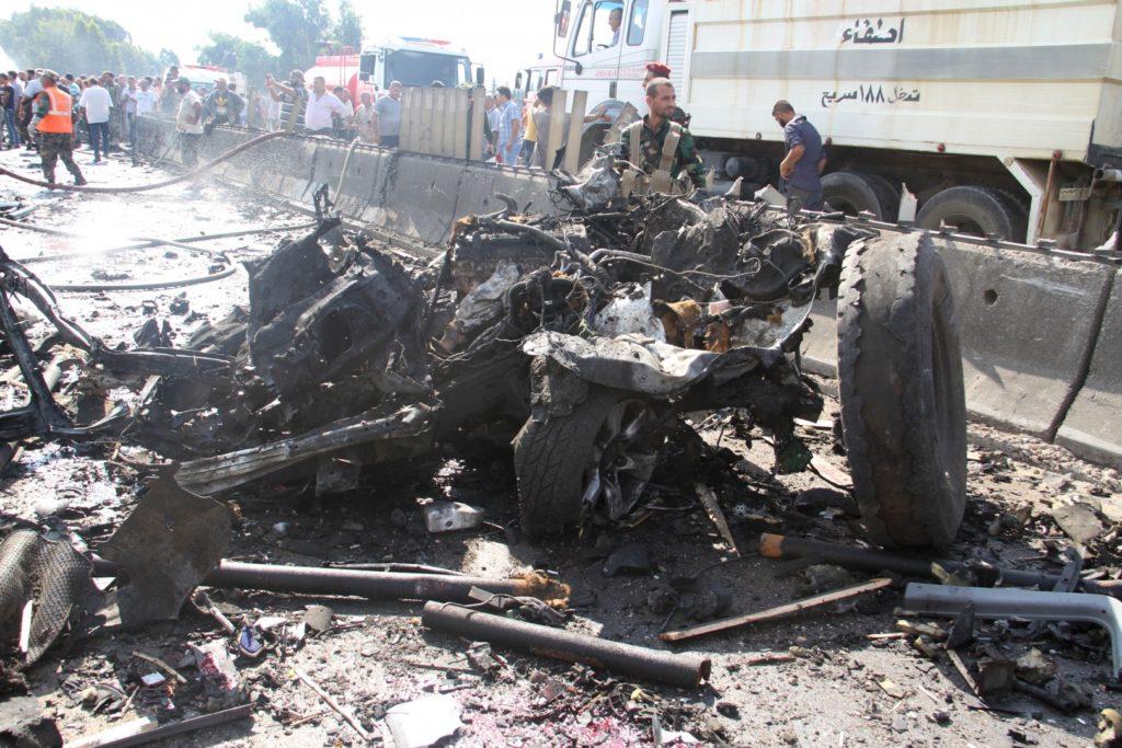 Foto: epa (eksplozija avtomobila bombe v Tartusu)