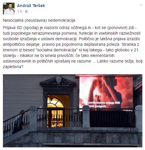 Jankovič in SD prijavili društvo Živim 1