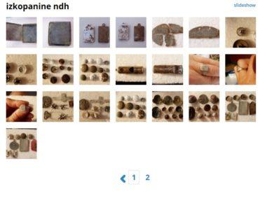 Foto: printscreen spletne strani mojalbum, kjer so se prodajale izkopanine NDH, po vsej verjetnosti najdene prav na slovenskih tleh