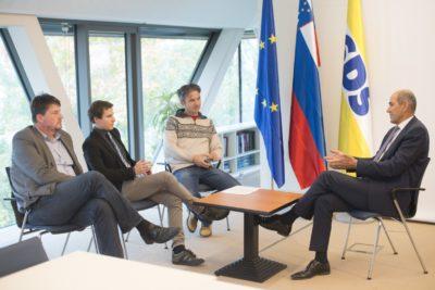 Boris Tomašič, Jure Ferjan, Metod Berlec in Janez Janša. (Foto: Urban Cerjak)