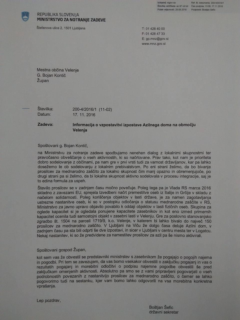 [EKSKLUZIVNO] Velenjčani pozor: Država se že pogaja za migrantski center v tem mestu 1
