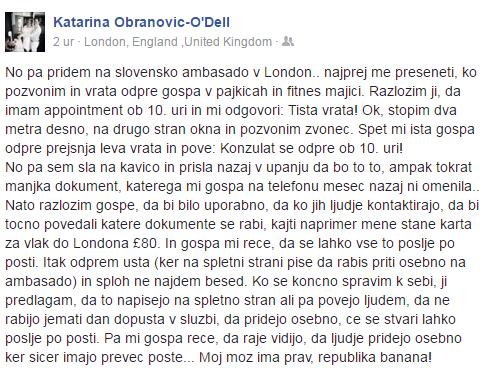 Zmeda, diletantstvo in lenoba na veleposlaništvu v Londonu 1