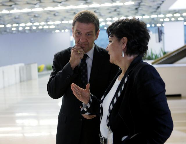 Simon Vrhunec in Meta Vesel Valentinčič (Foto: STA)