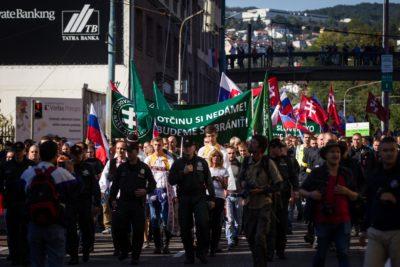 (Slovaški protestniki, ki nasprotujejo islamizaciji Evrope) Foto: epa