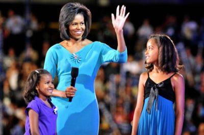 Soproga Baracka Obame, Michelle s hčerkama. Foto: STA