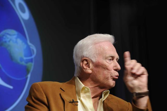 Eugene Cernan ob 40. obletnici prvega pristanka na Luni (foto: STA).