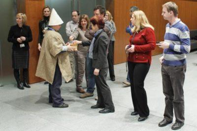 Koledniki na obisku v državnem zboru Foto: STA