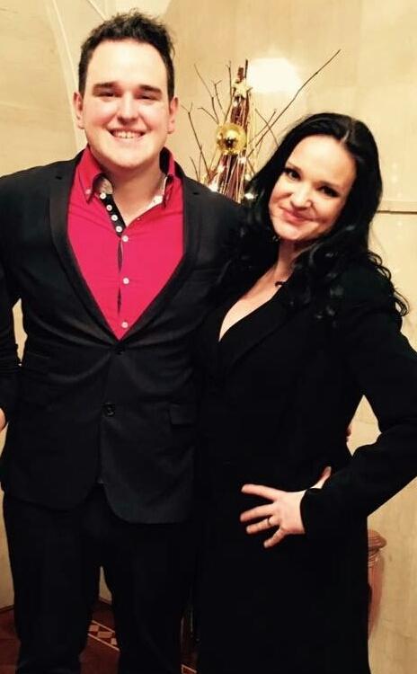 Žiga Lakner in njegova mentorica Alenka Gotar.