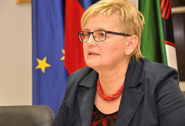 Županja občine Črnomelj Mojca Čemas Stjepanovič noče slišati civilne iniciative (Foto: STA)