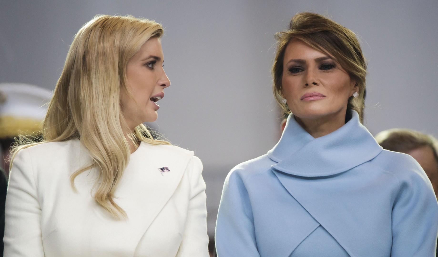 Ivanka Trump in Melanija na inavguraciji. (foto: epa)