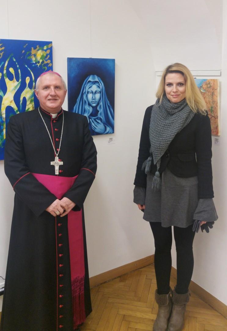 Msgr Stanislav Zore in Patricija Simonič.