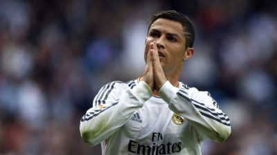 Foto: EPA. Cristiano Ronaldo, prvi zvezdnik Reala in najboljši nogometaš na svetu, je zelo veren.