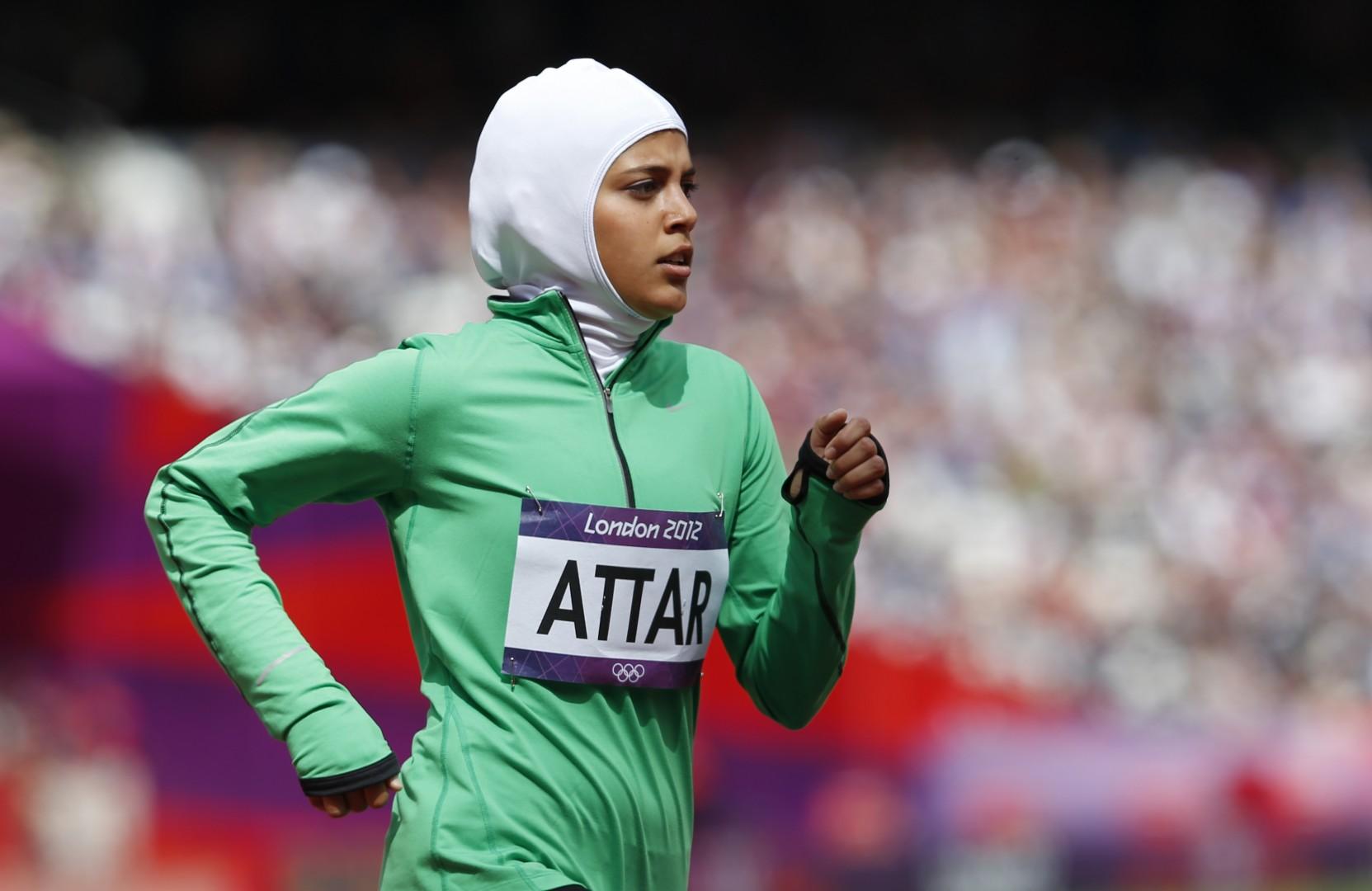 Sarah Attar, prva tekmovala, ki je na olimpijskih igrah rpedstavljala Savdsko Arabijo. (foto: epa)