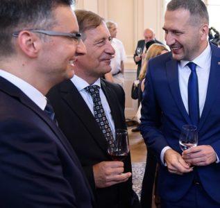 Marjan Šarec, Karl Erjavec, Damir Črnčec (Foto: STA)