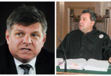 Zvejzdan Radonjić je trn v peti predsedniku Okrožnega sodišča v Ljubljani, Marjanu Pogačniku. (vir STA/Twitter))