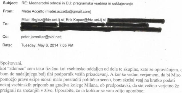Matej Acceto se javno opredeli v elektronskem sporočilu kot tihi podpornik politike SMC-ja v letu 2014. (vir Požareport)