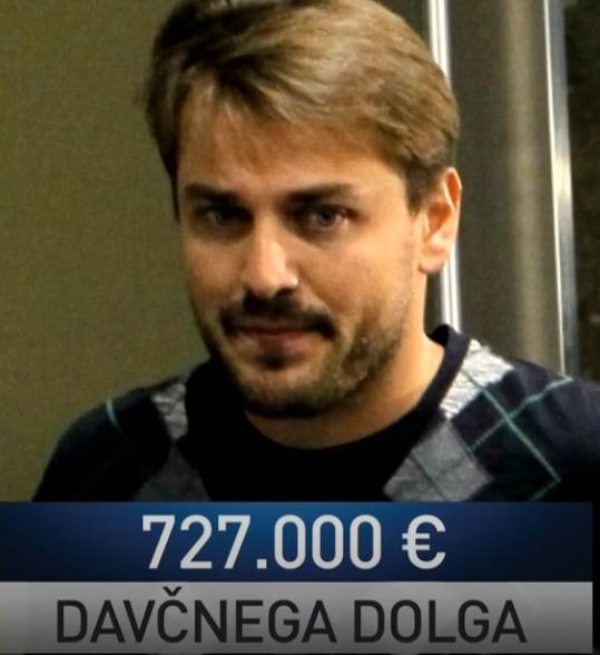 Dolg Jureta Jankoviča do države Slovenije. (vir Tarča RTV SLO)