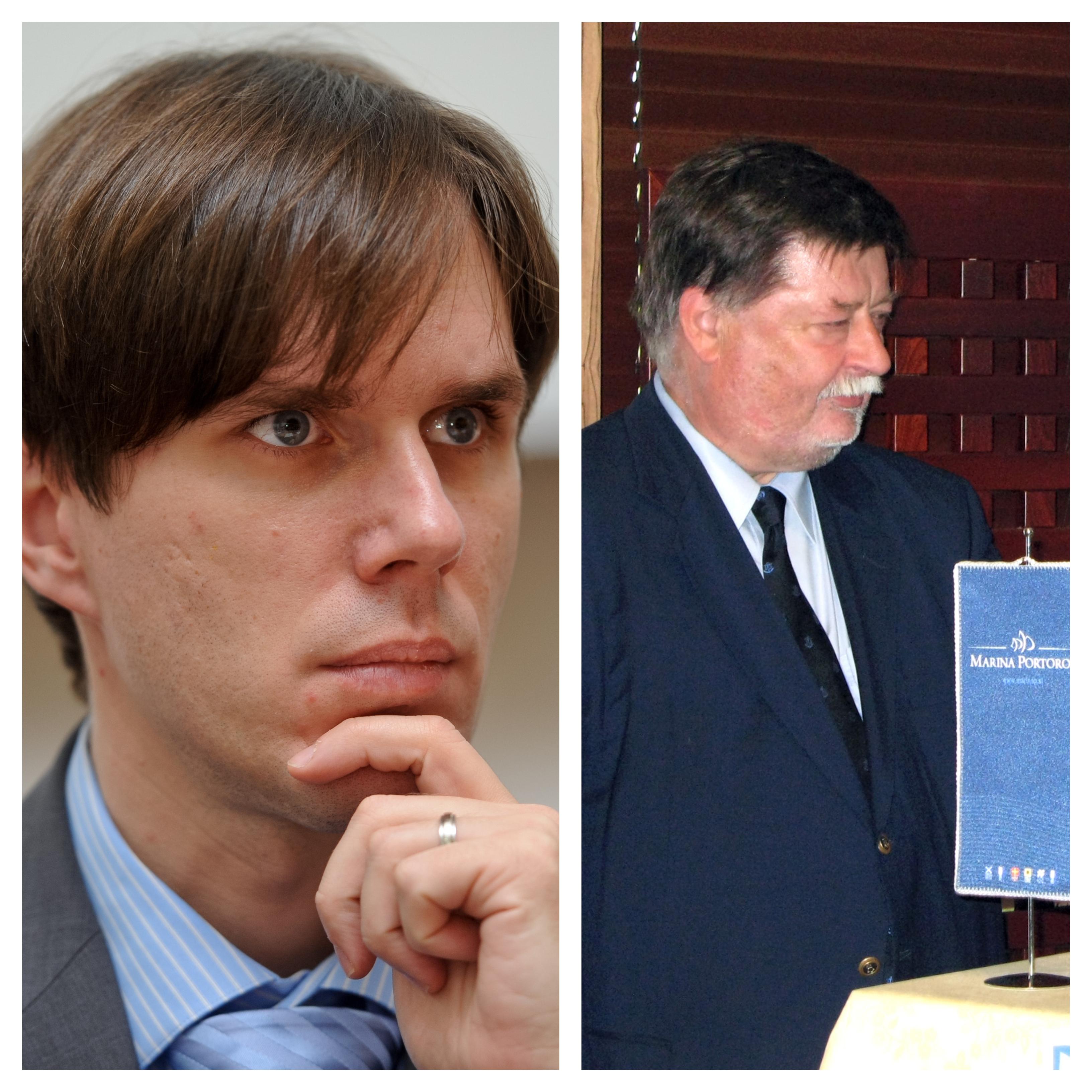 Erik Kerševan in Marko Ilešič. Ali jima bo uspelo na prestižno sodniško funkcijo nastaviti popolnoma neznano in neizkušeno Nino Savin Bossiere. (vir STA)