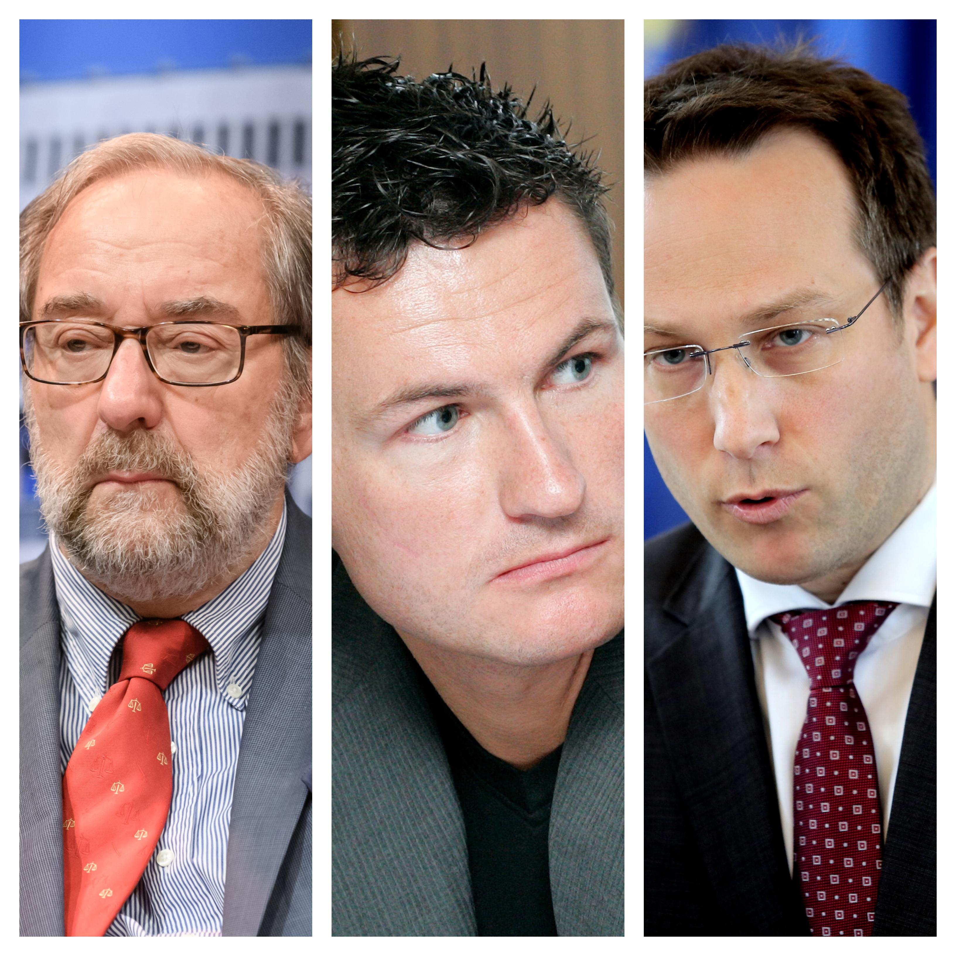 Tri eminenta pravna imena, Boštjan M. Zupančič, Jurij Toplak in Klemen Jaklič so se kritično odzvali na Accettovo škandalozno udejstvovanje. (vir STA)