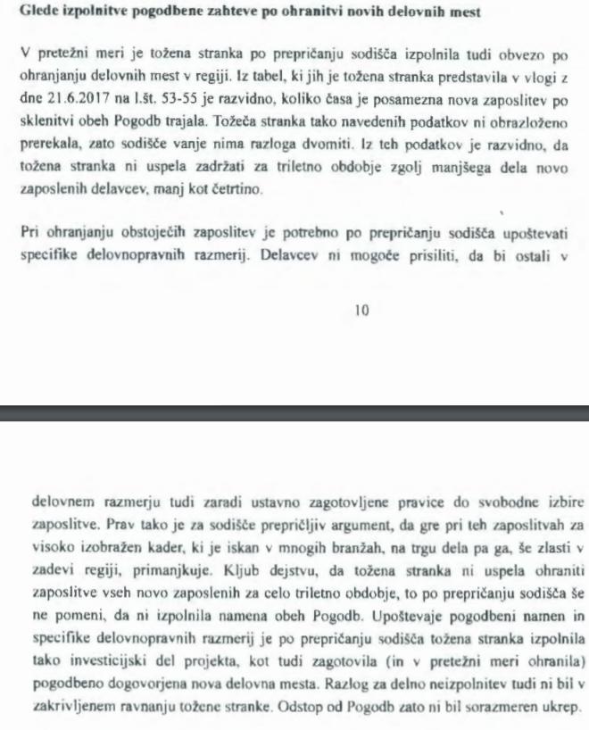 Pojasnilo sodišča glede nejasnosti pogodbe in toženega zahtevka Tovšakovega Spirita. (vir prvostopenjsko sodišče v Novi Gorici))