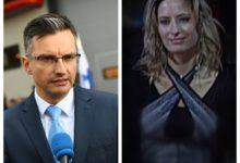 Marjan Šarec in tajna agentka N.H. (vir STA, Tarča na RTV SLO)