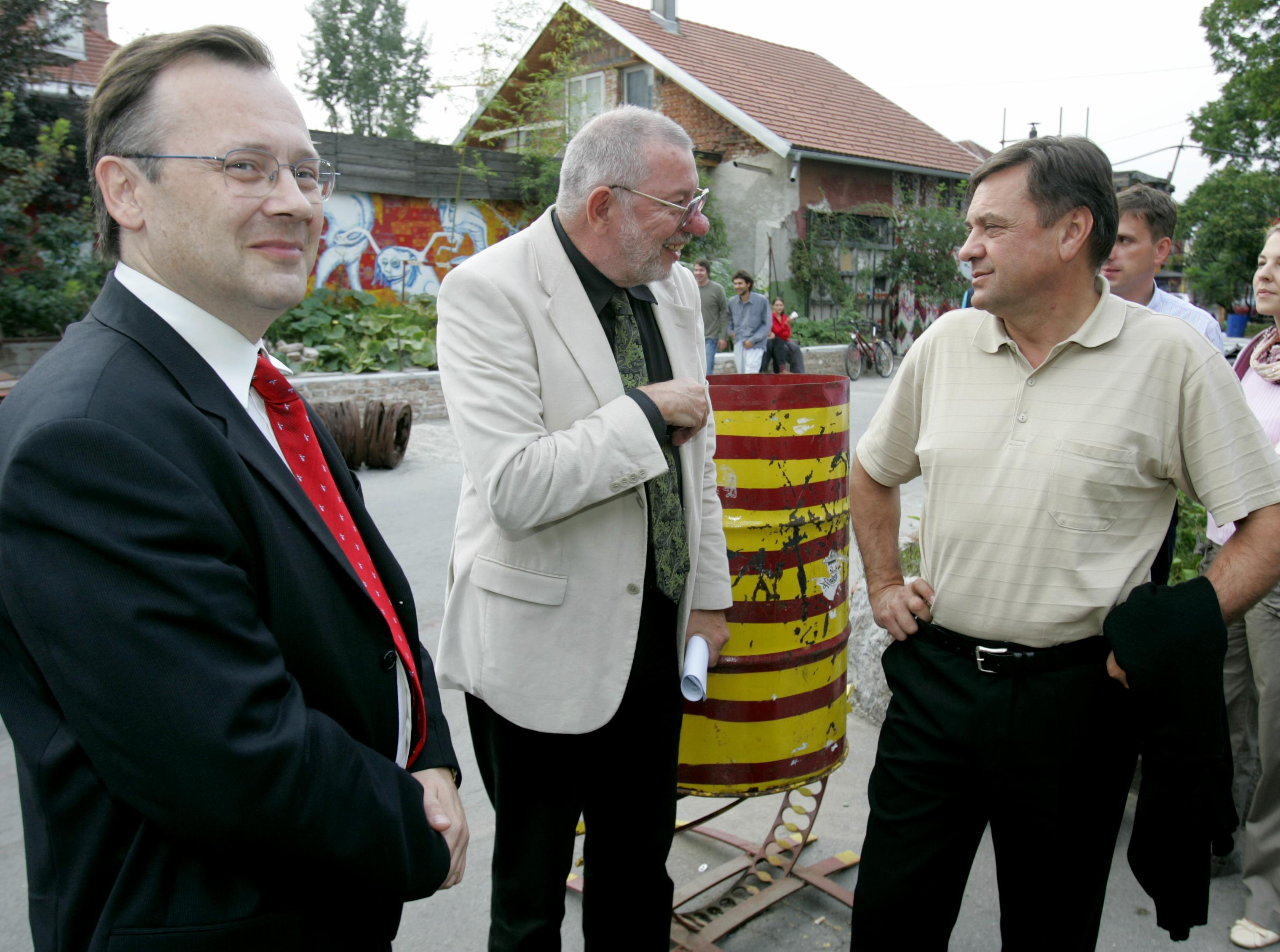 Zoran Dernovšek, Miha Jazbinšek in Zoran Janković (Foto:STA)