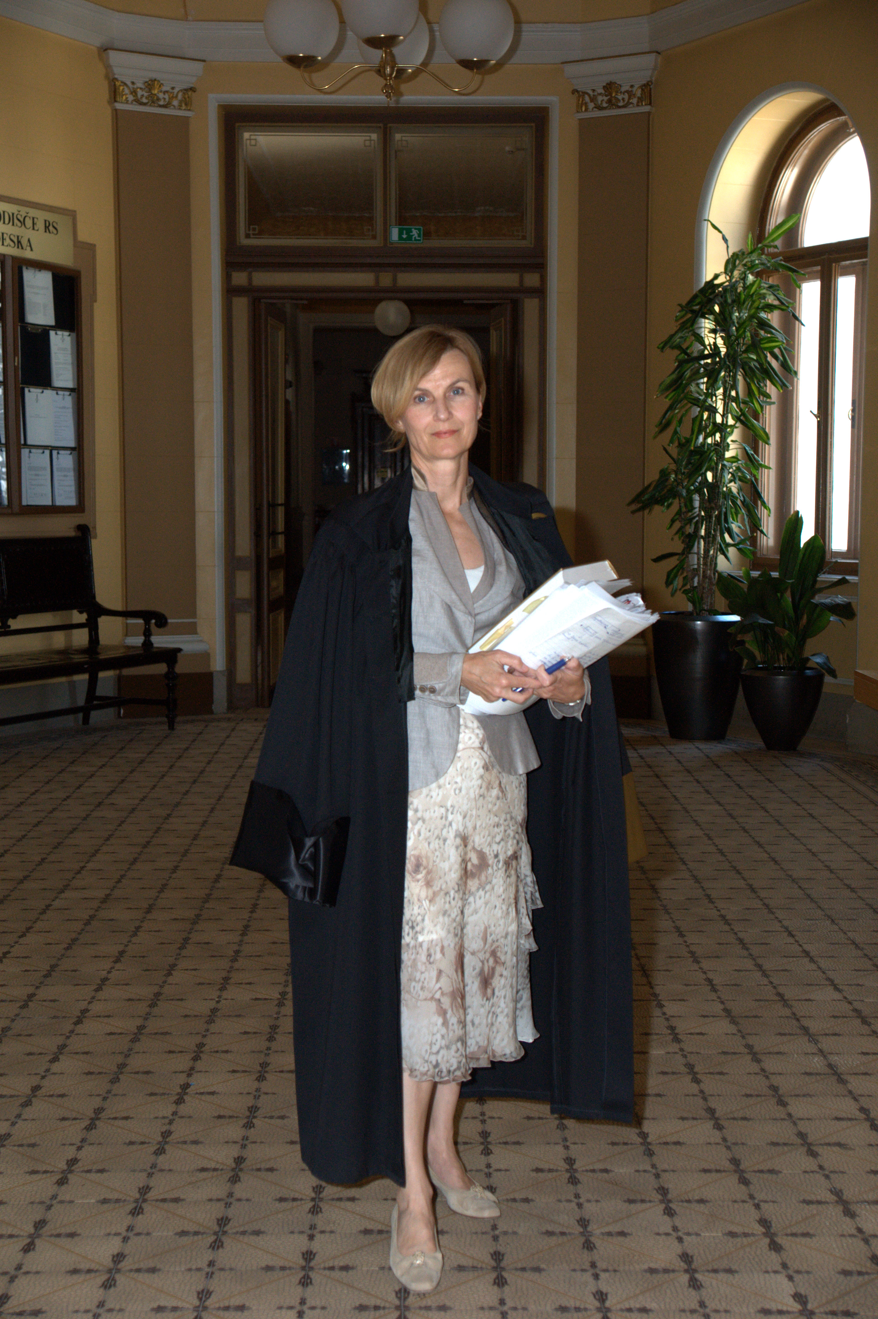 Vrhovna sodnica Dunja Jadek, sestra odvetnika Srečkota Jadeka. (Foto: STA)