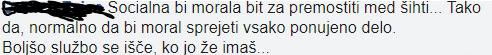 Še eden izmed uporabnikov, kateri podpira omenjeno sprejetje amandamaja SDS. (Foto: Facebook)