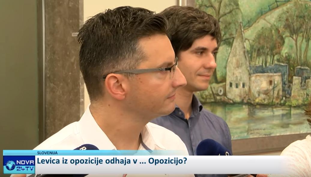 Marjan Šarec in Luka Mesec (Foto: Nova24tv)