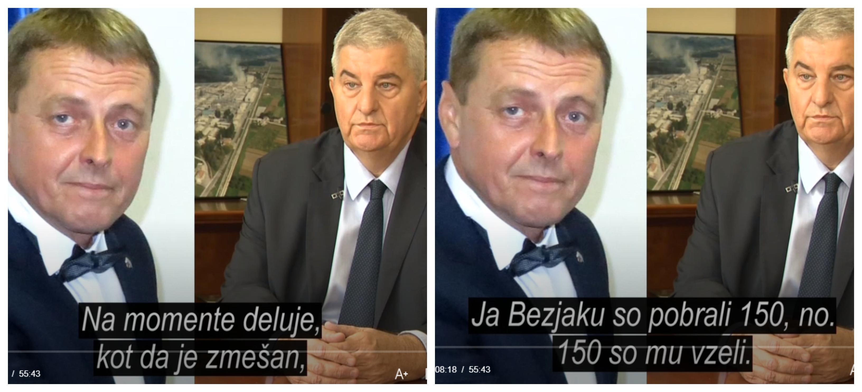 Del pogovora med notarjem Gorazdom Fišrerjem in Veselinom Djurovićem. (Foto: Tarča RTV Slo)