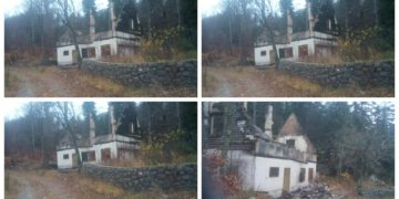 Uničena in požgana hiša s strani talibana. (Foto:Facebook)