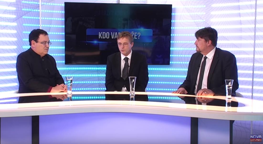 Miloš Čirič, Peter Jančič in Boris Tomašič v oddaji Kdo laže. (Foto: Nova24tv)