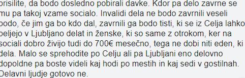 Realističen odziv podjetnika iz Celja glede sprejetega amandmaja. (Foto: Facebook)