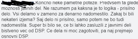 Eden od uporbnikov s katero pozdravlja pametno sprejeto potezo poslancev. (Foto: Facebook)