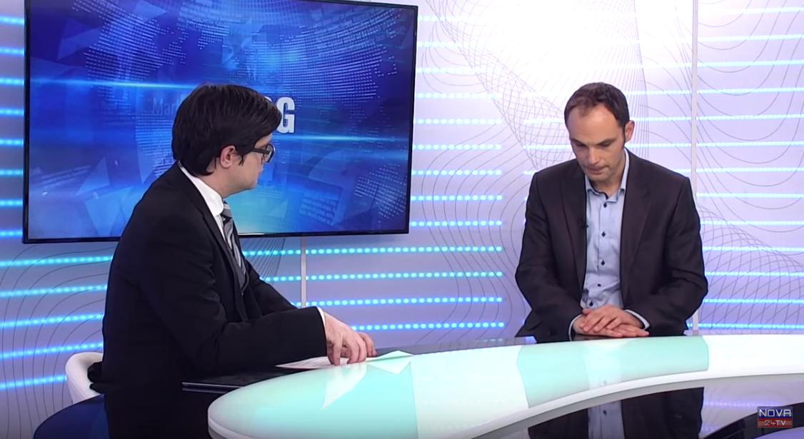 Aleksander Rant in Anže Logar v oddaji Dialog (Foto: Nova24tv)