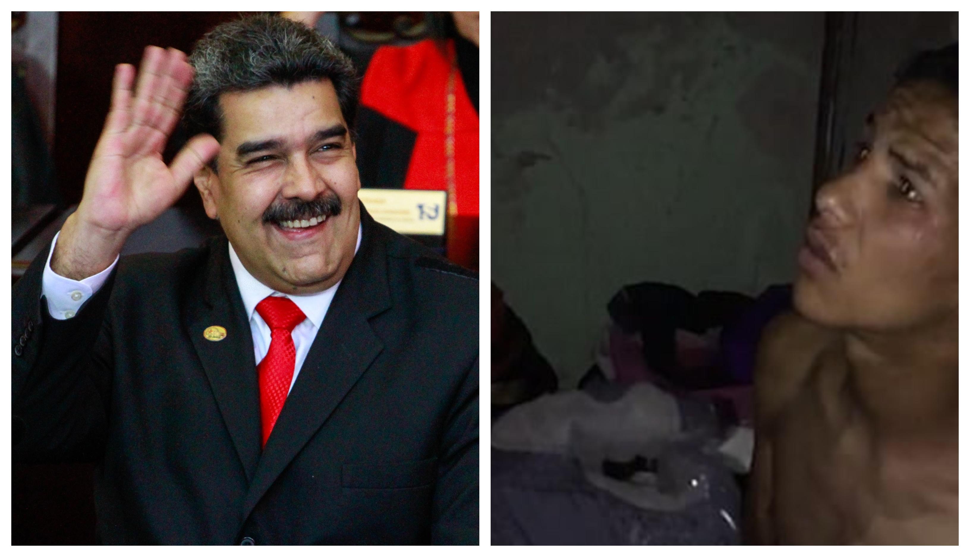 Nicholas Maduro in žrtev Jose Arevalo (Foto: STA, Twitter))