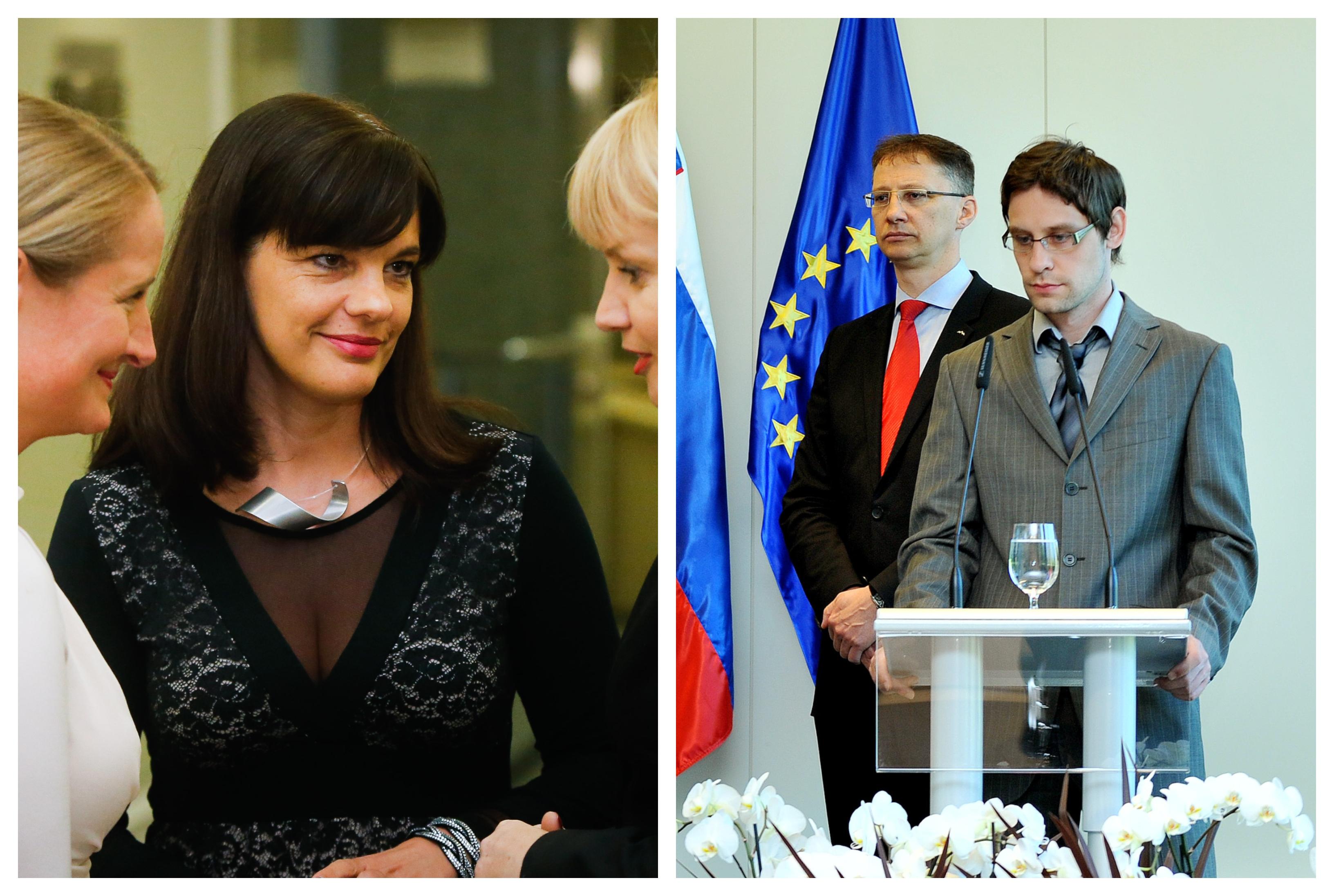 Odhajajoča Tina Hrastnik in Sebastijan Magdič. (Foto: STA)