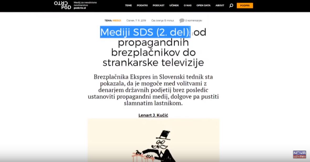 Spletni portal Podčrto se je lotil raziskovanja našega medija, tednika Demokracije (Foto: Nova24TV)