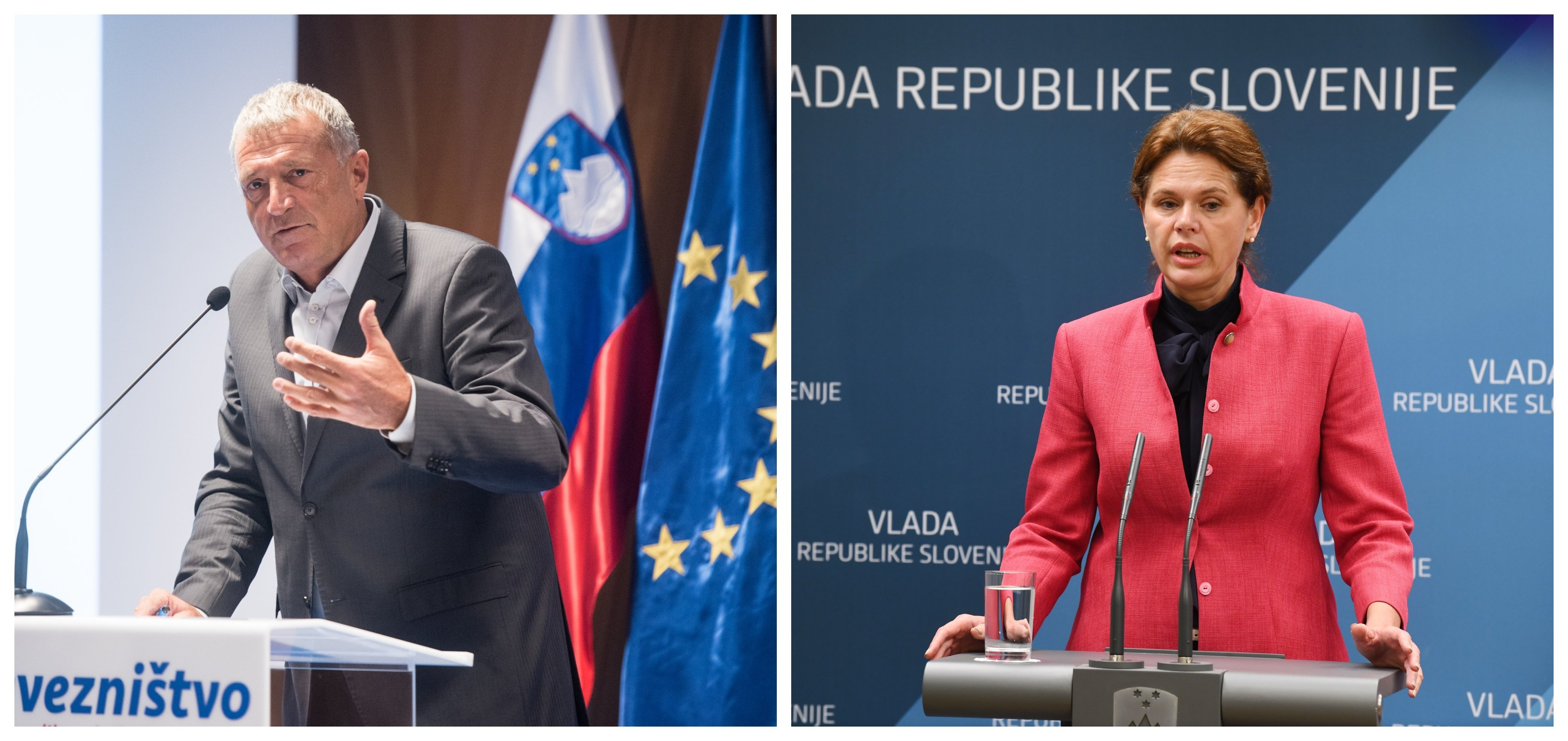 Glavna krivca. Pravosodni minister Senko Pličanič in predsednica vlade Alenka Bratušek. (Foto: STA)