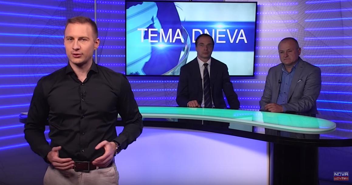 Voditelj oddaje Luka Svetina, Marko Pogačnik in Franc Kangler (Foto: Nova24tv)
