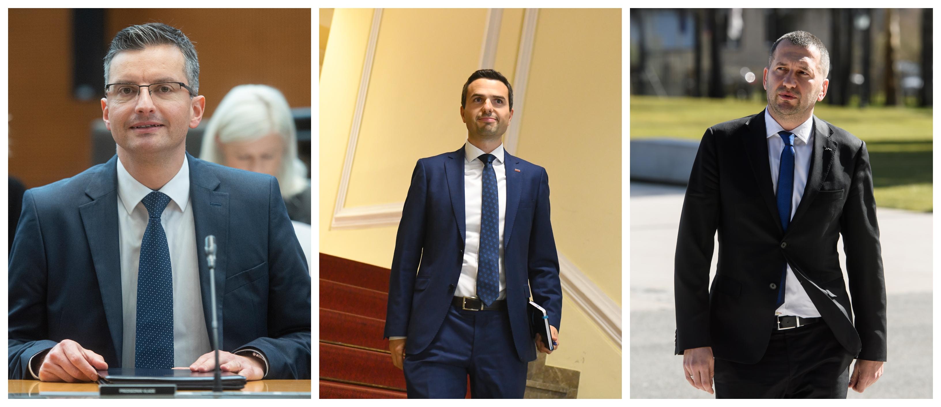 Marjan Šarec, Matej Tonin in Damir Črnčec (Foto: STA)
