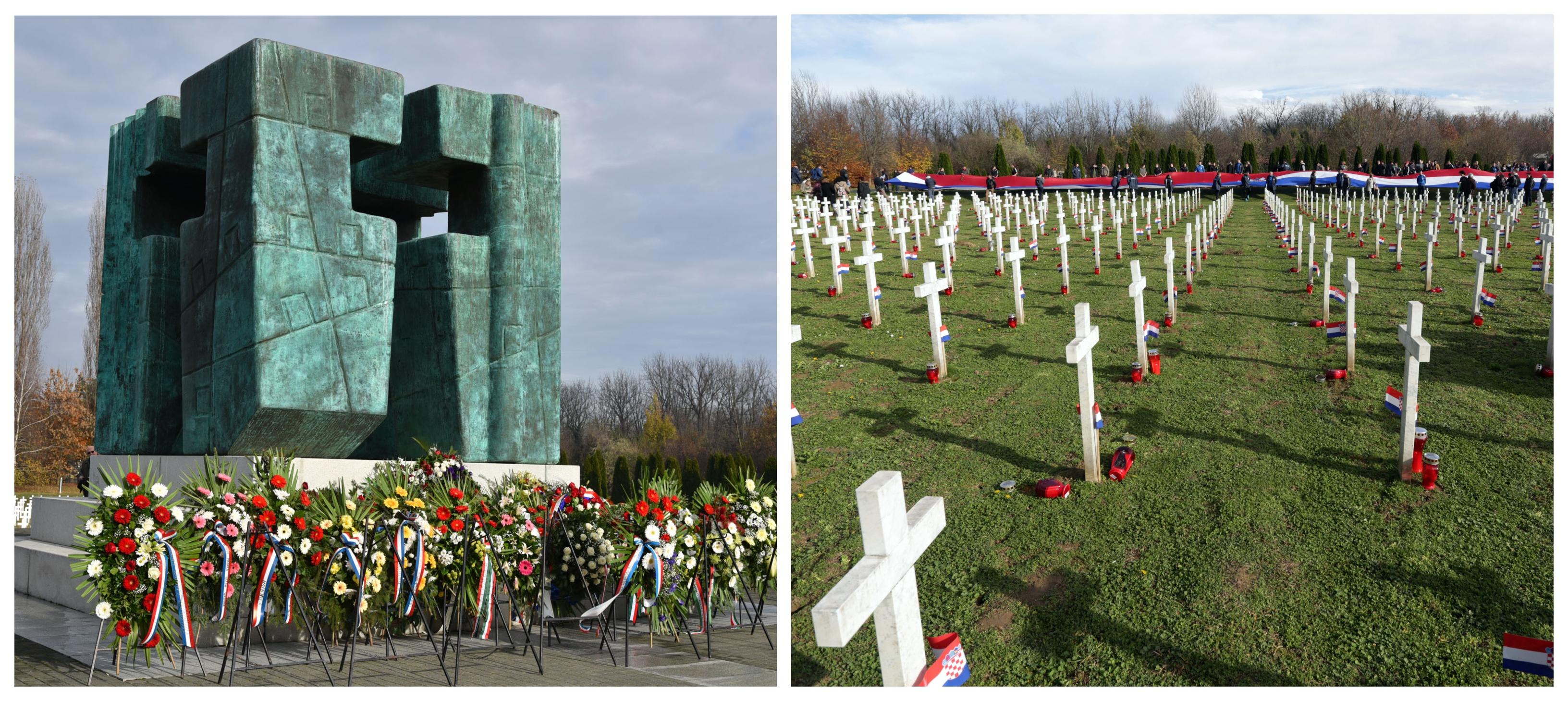 Spominsko obeležje v Vukovaru in pokopoliđče padlih žrtev agresorja JLA. ( Foto: STA)