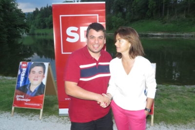 Strokovnjak za Sam doma 2 dr. Jernej Štromajer in evropska poslanka iz vrst SD Tanja Fajon (Foto: STA)