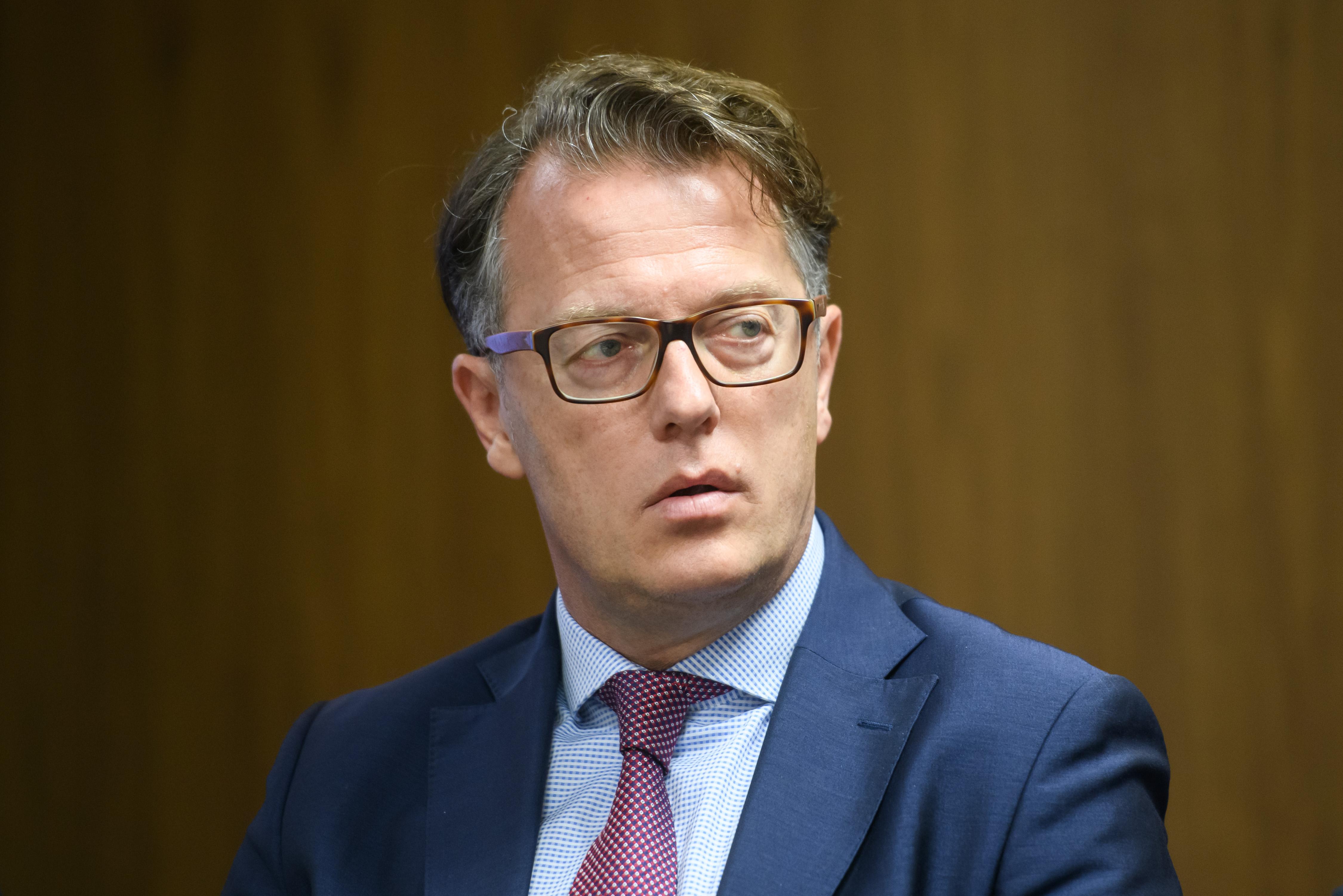 Predsednik in izvršni direktor propadlega projekta Cerarjeve in Šarčeve vlade EUBC HUB Blaž Golob. (Foto: STA)