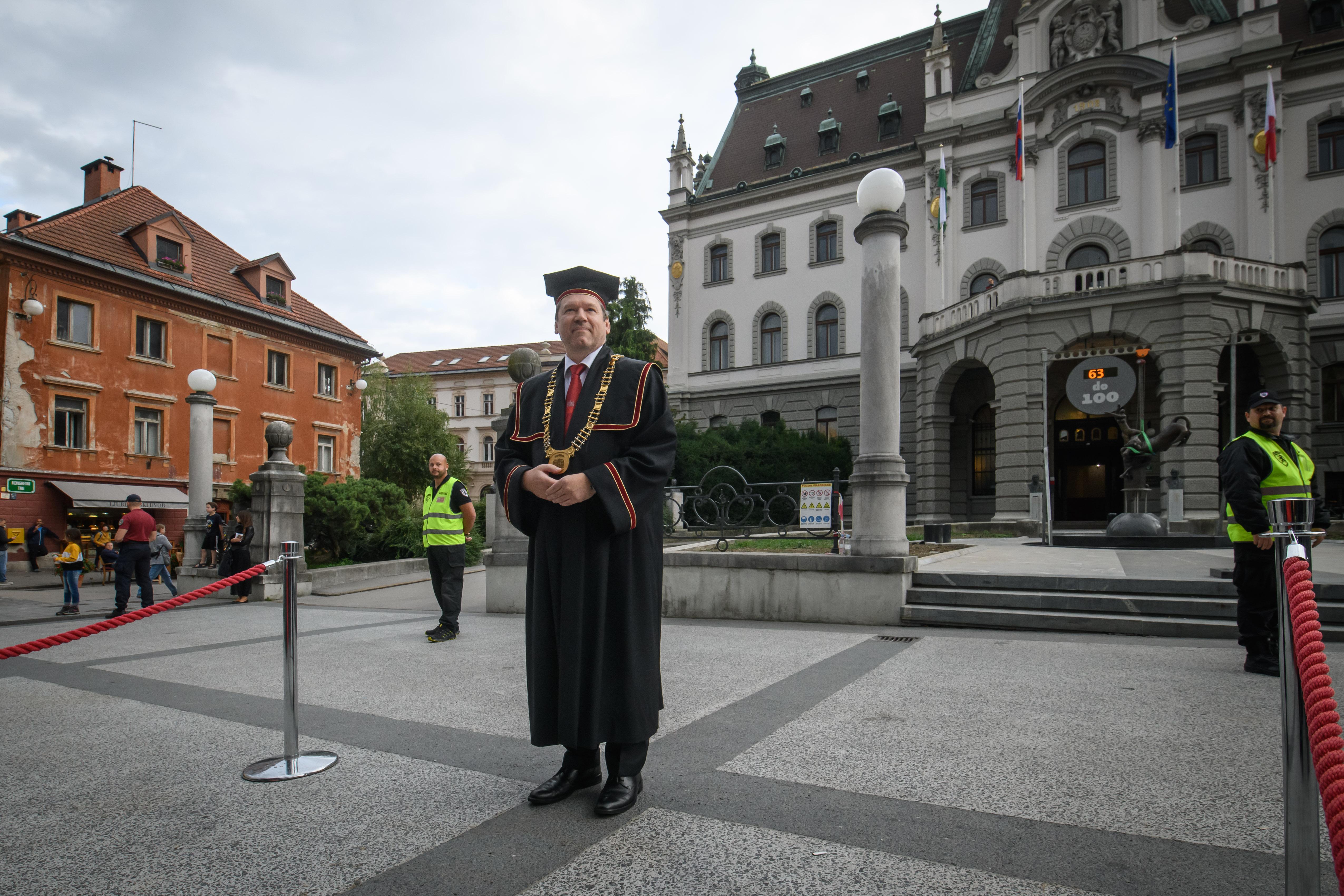 Rektor ljubljanske univerze Igor Papic. (Foto: STA)