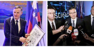 """Finančni minister Andrej Bertoncelj in predsednik vlade Marjan Šarec bosta morala hitro umiriti """"čebelice"""" in """"trote"""" na Upravi za javna naročila. (Foto: STA)"""