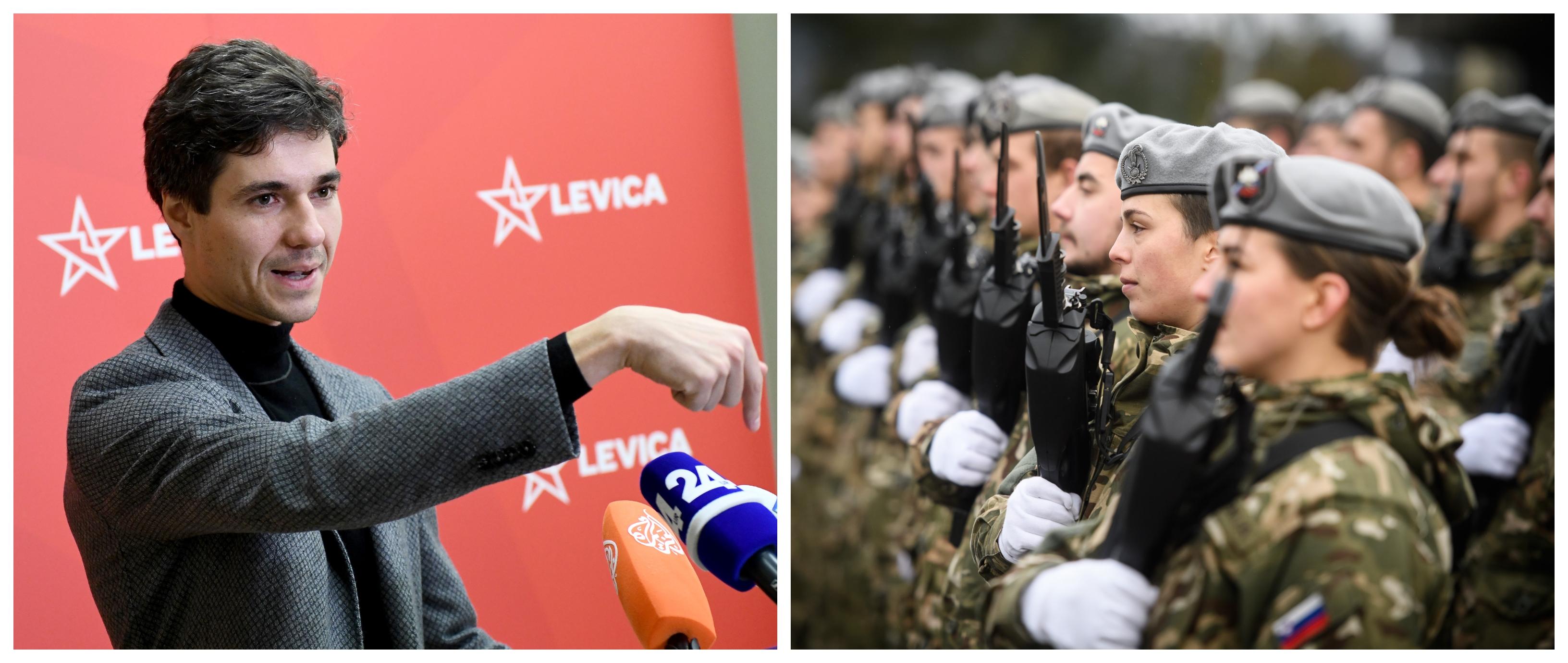 """Luka Mesec si zopet predstavlja delovanje slovenske vojske po """"domače"""". (Foto: STA)"""